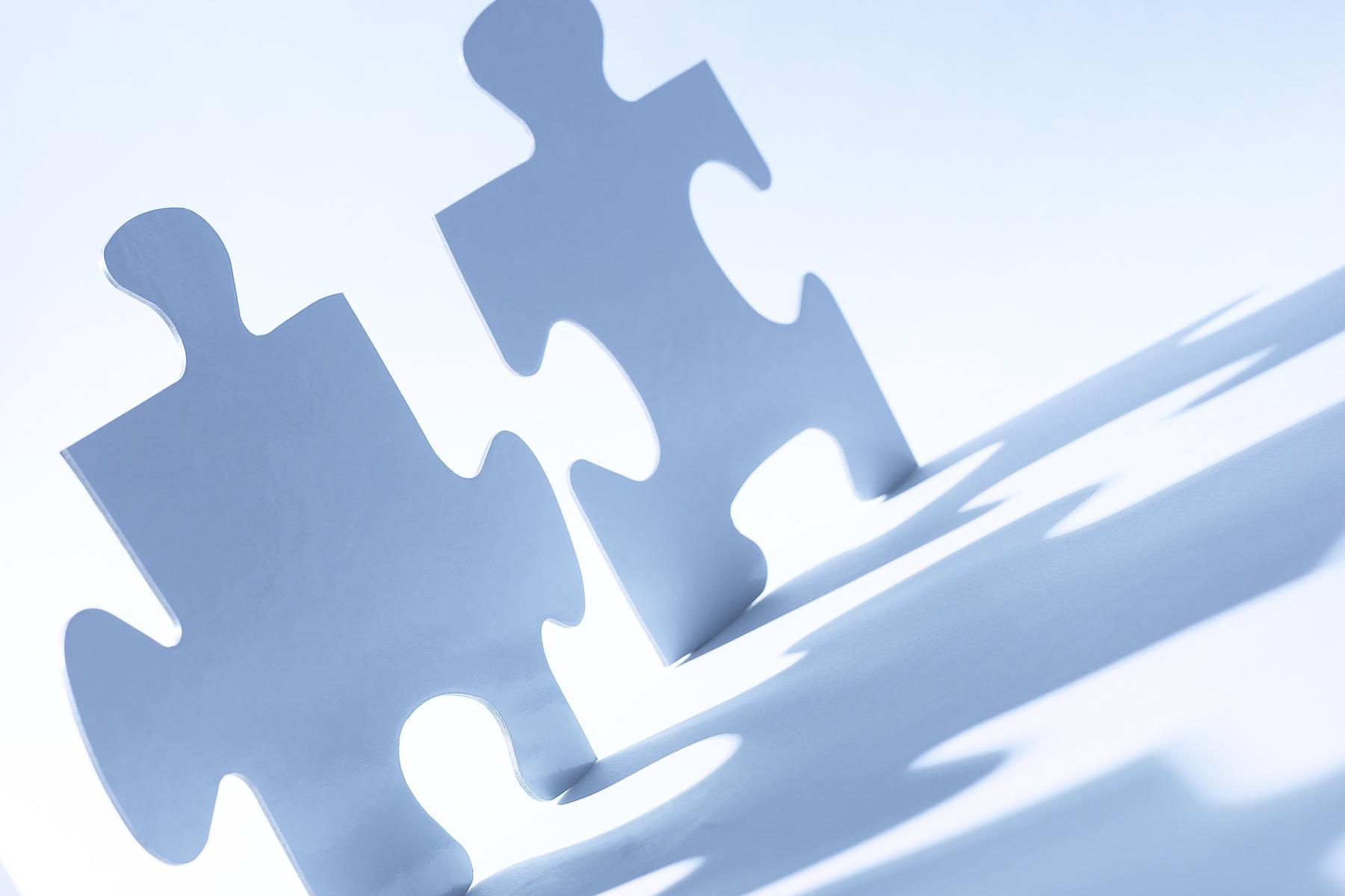 Puzzle pieces, leading change