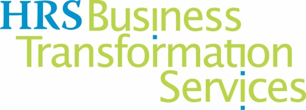Blue Green logo of HRS Business Transformation Services