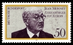 Post stamp with picture of Jean Monnet