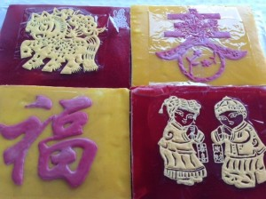 Chinese New Year cake with symbol of The Year of The Horse