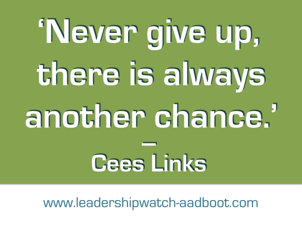 Quote of Cees Links on Green background