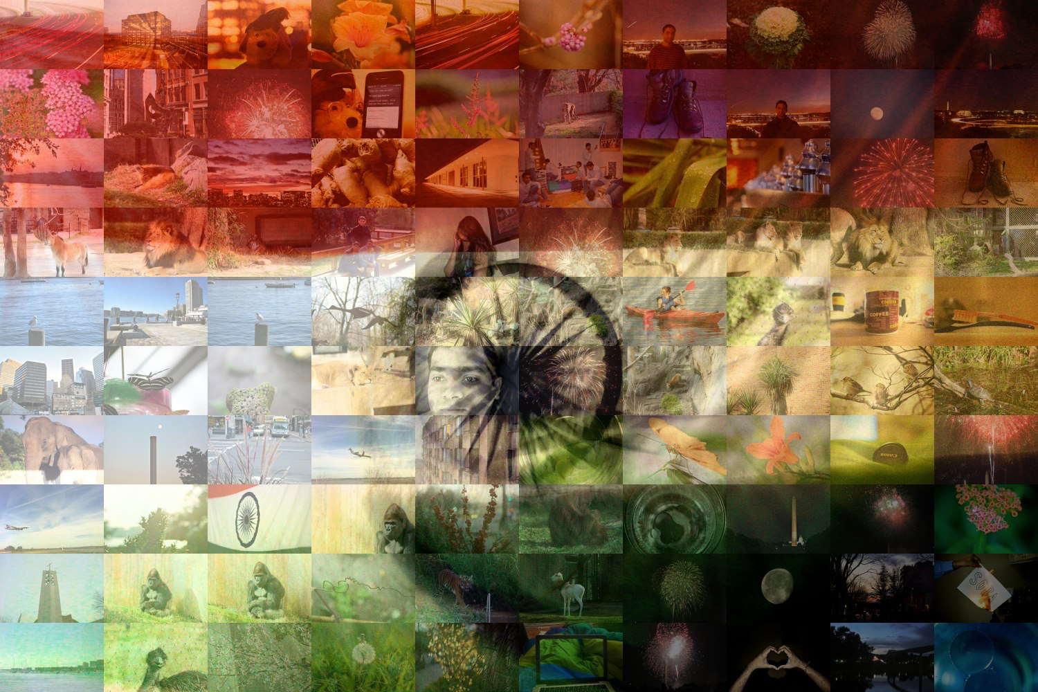Indian Flag with small pictures in it