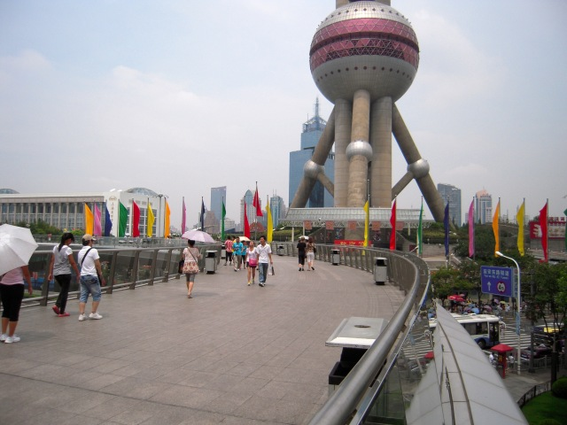 Shanghai City Skyline with view