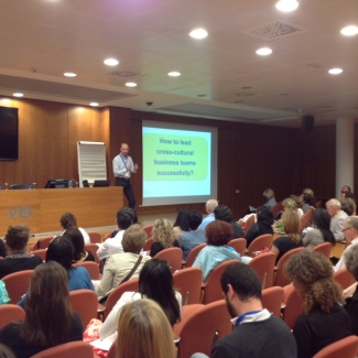 Aad speaking at the SIETAR Europa Annual Congress in Valencia in 2015