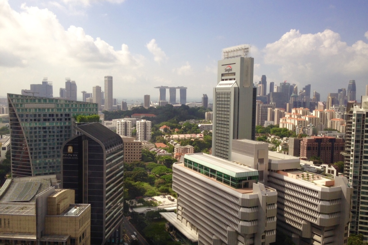 Singapore skyline, Asian Business Teams