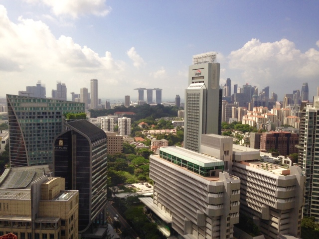 Singapore skyline, Asian Business Teams