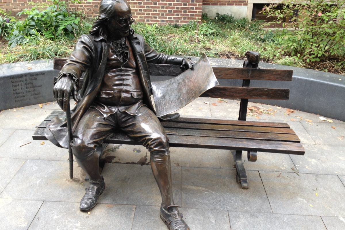 Benjamin Franklin, University of Pennsylvania, Whartona