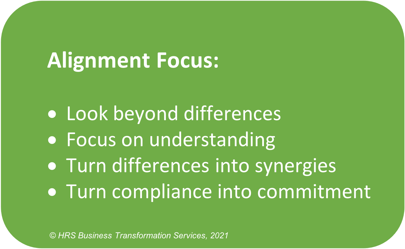 What is Alignment Focus and its elements